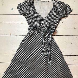 Dresses & Skirts - Vintage 1950s Black Checkered Dress